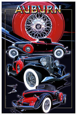 Photograph - 1933 Auburn Speedster by Ed Dooley
