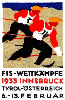 Painting - 1933 Austrian Ski Race Poster by Historic Image