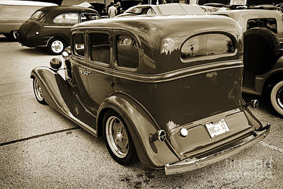 Photograph - 1933 Chevrolet Chevy Sedan Classic Car Side In Sepia 3174.01 by M K  Miller