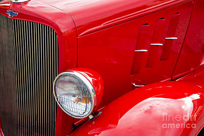 Photograph - 1933 Chevrolet Chevy Sedan Fender Of Classic Car In Color 3164.0 by M K  Miller