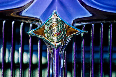 Photograph - 1933 Chrysler Sedan Grille Emblem by Jill Reger