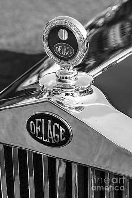 Photograph - 1933 Delage Hood Ornament by Dennis Hedberg