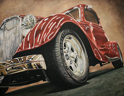 Painting - 1933 Ford by Branden Hochstetler
