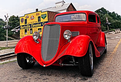 Antique Photograph - 1933 Ford Coupe by Marcia Colelli