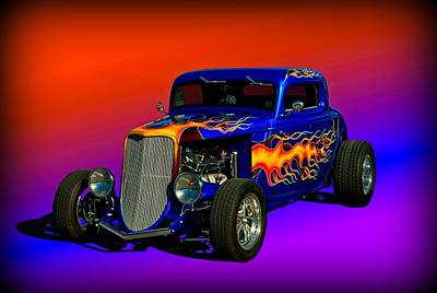 1933 Ford High Boy Hot Rod Art Print
