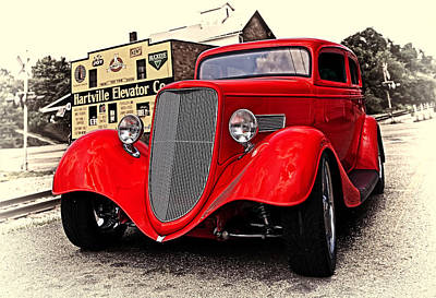 Car Photograph - 1933 Ford by Marcia Colelli