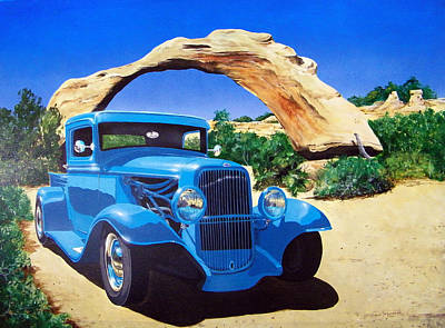 Painting - 1933 Ford Pickup by Richard Mordecki