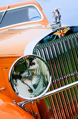 Photograph - 1933 Hispano-suiza J12 Vanvooren Coupe Grill Emblem - Hood Ornament by Jill Reger
