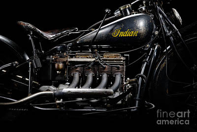 1933 Indian Four Engine Art Print