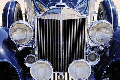 Convertible Photograph - 1933 Packard 12 Convertible Coupe Grille by Jill Reger