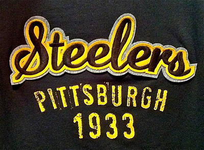 Photograph - 1933 Pittsburgh Steelers by Denise Mazzocco