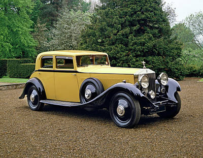 Historic Car Photograph - 1933 Rolls Royce Phantom II Continental by Panoramic Images
