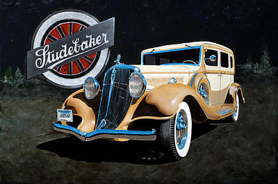 Painting - 1933 Studebaker by Richard Mordecki
