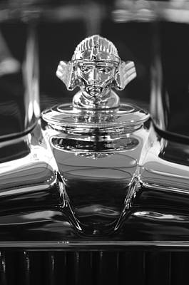 Hoodies Photograph - 1933 Stutz Dv-32 Hood Ornament 4 by Jill Reger