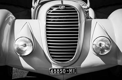 Photograph - 1934 Alfa Romeo 8c Zagato Grille -0071bw by Jill Reger