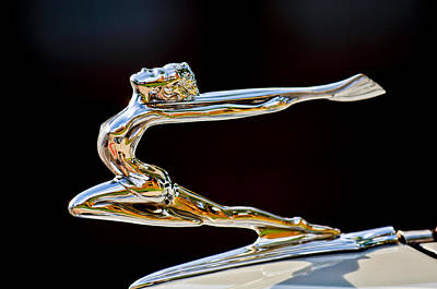 1934 Buick Goddess Hood Ornament Art Print by Jill Reger