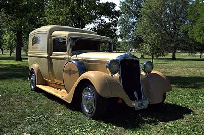 Photograph - 1934 Dodge Brothers Humpback Panel Truck by Tim McCullough