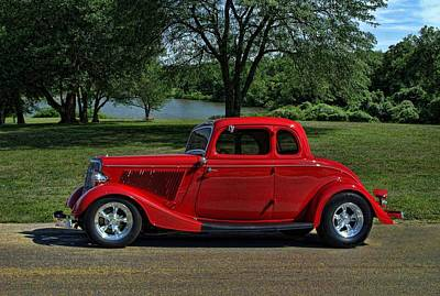 1934 Ford 5 Window Hot Rod Art Print
