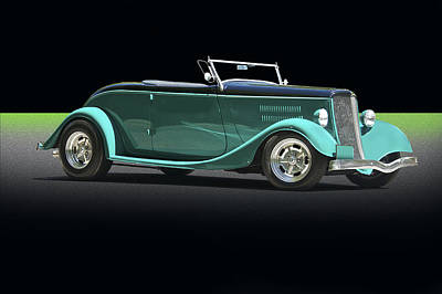 Maps Maps And More Maps - 1934 Ford Cabriolet by Dave Koontz