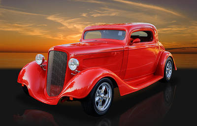 Photograph - 1934 Ford Coupe Custom Hot Rod by Frank J Benz