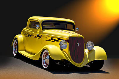 Food And Flowers Still Life - 1934 Ford Coupe II by Dave Koontz