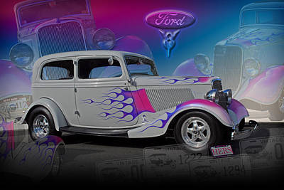 1934 Ford Delux Art Print