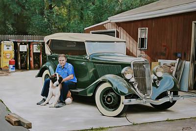 Painting - 1934 Ford Phaeton by Branden Hochstetler