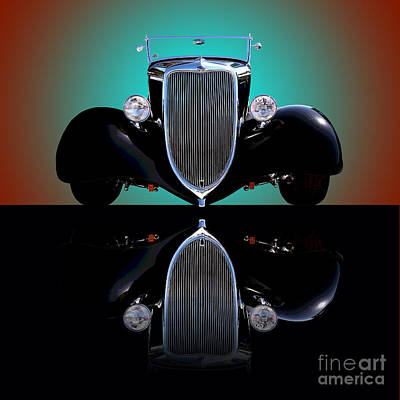 Photograph - 1934 Ford Phaeton Convertible by Jim Carrell