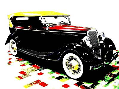 Transportation Digital Art - 1934 Ford Phaeton V8  by Will Borden