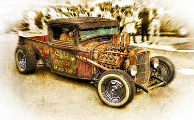 1934 Ford Rusty Rod Art Print by motography aka Phil Clark