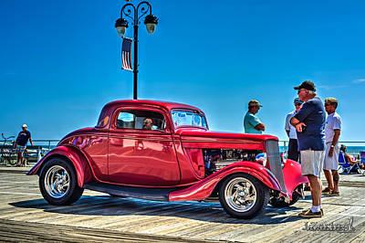 Street Rod Mixed Media - 1934 Ford Street Rod Red by Joshua Zaring