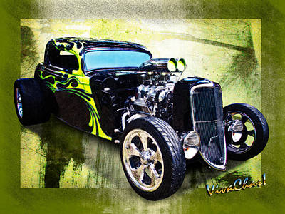 1934 Ford Three Window Coupe Hot Rod Art Print
