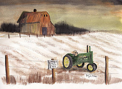 1934 John Deere Model A For Sale Art Print by Jack G  Brauer