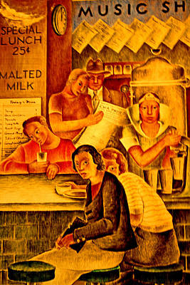 Photograph - 1934 Malt Shop by Joseph Coulombe