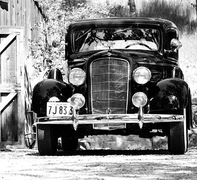 Photograph - 1934 Oldsmobile Touring Coupe Bw by Holly Blunkall