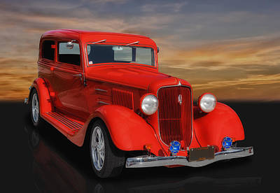 Street Rod Photograph - 1934 Plymouth by Frank J Benz