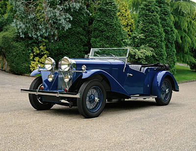 Blue Car Photograph - 1934 Talbot 105 Vanden Plas Tourer, 3.0 by Panoramic Images
