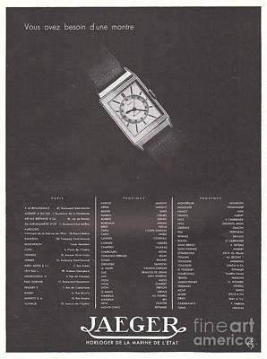 Vintage Baseball Players - 1935 Ad Print Jaeger Wrist Mens Watch Horloger de la Marine de  by MN Digital