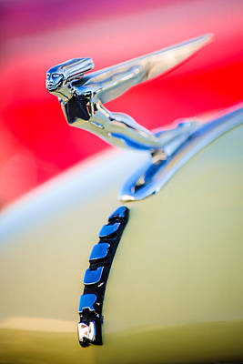 Photograph - 1935 Auburn 851 Supercharged Boattail Speedster Hood Ornament by Jill Reger
