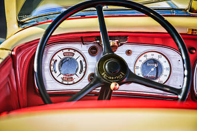 Photograph - 1935 Auburn 851 Supercharged Boattail Speedster Steering Wheel by Jill Reger