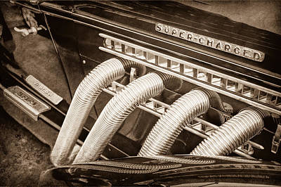 Photograph - 1935 Auburn Side Pipes - Emblem by Jill Reger