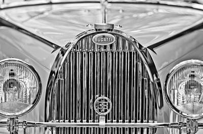 Photograph - 1935 Bugatti Type 57 Roadster Grille Emblem by Jill Reger