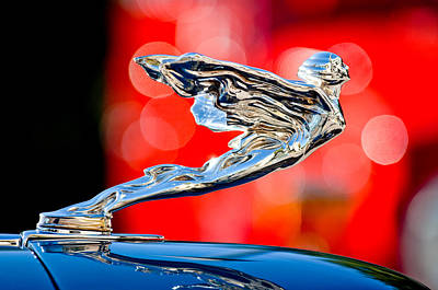 Photograph - 1935 Cadillac V-12 Convertible Sedan Hood Ornament -0564c by Jill Reger