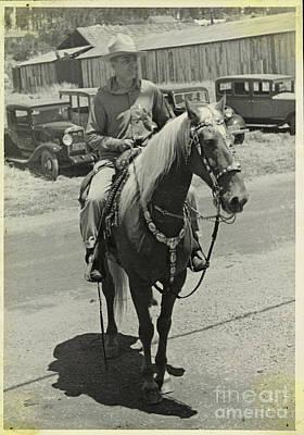 Photograph - 1935 Cowboy by Patricia  Tierney
