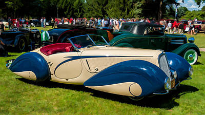 Photograph - 1935 Delahaye 135m by James Howe