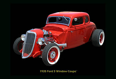 1935 Ford 5 Window Coupe Art Print by Jack Pumphrey