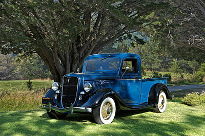 World War 2 Action Photography - 1935 Ford Pick Up by Dave Koontz