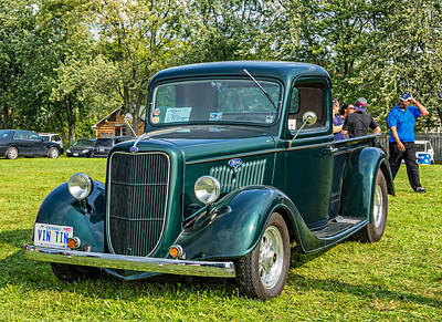 Automotive Photograph - 1935 Ford Pickup by Steve Harrington