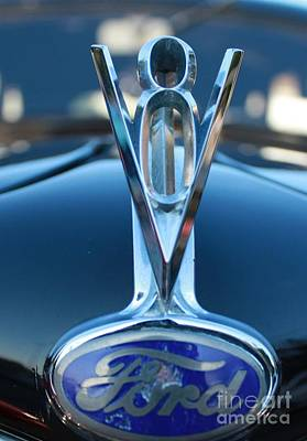 Photograph - 1935 Ford V-8 Sedan Hood Ornament by John Telfer