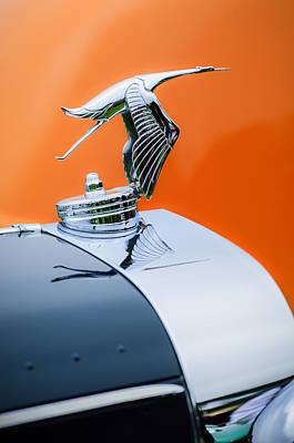 Photograph - 1935 Hispano-suiza J12 Vanvooren Cabriolet Hood Ornament -2425c by Jill Reger